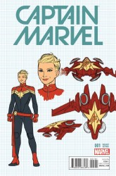 Marvel - Captain Marvel # 1 1:20 Anka Design Variant