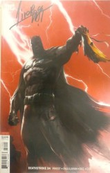 DC - Deathstroke # 34 Deathstroke vs Batman Mattina Variant Mattina İmzalı Sertifikalı