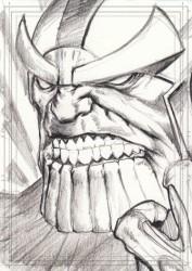 Diğer - Görkem Demir Limited Edition Holo Sketch Card #24 Thanos