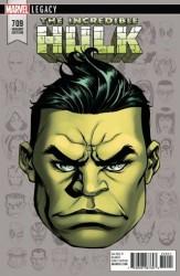 Marvel - Incredible Hulk # 709 Headshot Variant