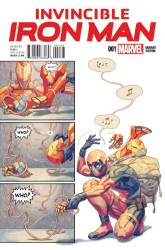Marvel - Invincible Iron Man # 1 Putri Party Variant