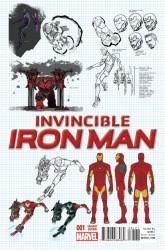 Marvel - Invincible Iron Man # 1 (2015) Marquez Design Variant