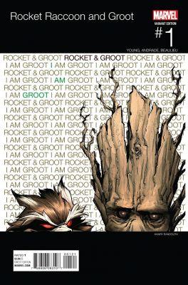 Rocket Raccoon and Groot # 1 Randolph Hip Hop Variant