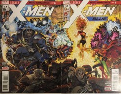 Marvel - X-Men Gold # 13 X-Men Blue # 13 Connecting Variant Set