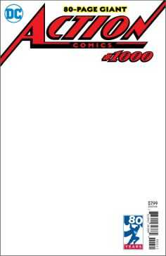 DC - Action Comics # 1000 Blank Variant