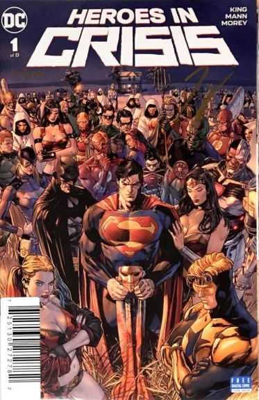 Dynamic Forces - DF Heroes In Crisis # 1 Tom King İmzalı