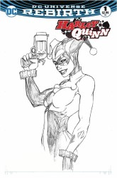 DC - Harley Quinn # 1 Aspen B&W Variant