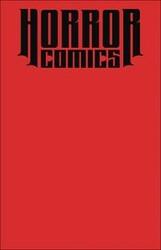 - Horror Comics Sketchbook Red Blank