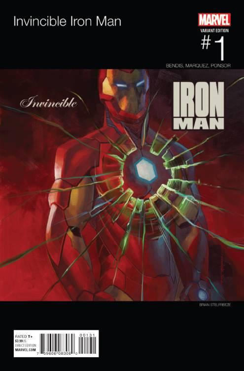Marvel - Invincible Iron Man # 1 (2015) Stelfreeze Hip Hop Variant