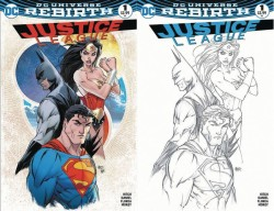 DC - Justice League # 1 Aspen Retailer Variant Regular Ve B&W Set