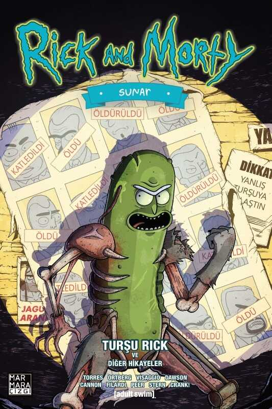 Marmara Çizgi - Rick And Morty Sunar - Turşu Rick Ve Diğer Hikayeler 100 Limitli (X-Men # 141 Homage) Paralel Evren Exclusive Variant