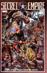Marvel - Secret Empire # 3 Nick Spencer ve Mark Brooks İmzalı Sertifikalı