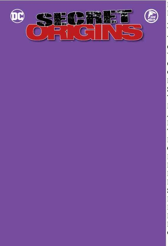 Çizgi Düşler - Secret Origins - Gizli Kökenler - Harley Quinn - Green Arrow - Robin Mor Blank