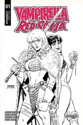 Dynamite - Vampirella Red Sonja # 1 1:40 Romero & Bellaire B&W Variant
